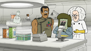 S8E06.029 Muscle Man Looking at Prankenstein's Fake Vomit