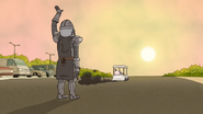 S6E23.148 Eggscellent Knight Waving Goodbye to the Guys