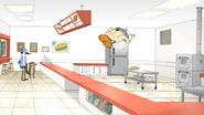 S4E13.036 Sensai Backflipping Towards the Kitchen