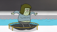 S6E14.166 Muscle Man Jumping on a Trampoline