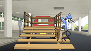S6E13.157 Mordecai and Rigby Getting Off the Truck