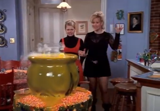 Image result for sabrina the teenage witch A RIVER OF CANDY CORN RUNS THROUGH IT