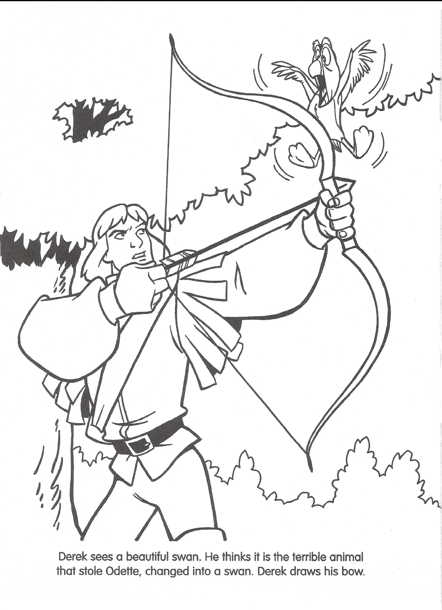 Swan princess coloring pages free - Swan Princess Coloring Pages To And Print