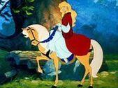Odette on her horse.