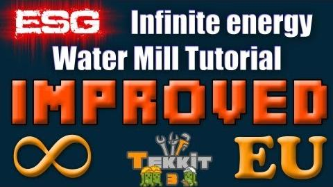 ESG - Tekkit Improved Infinite Energy Water Mill Tutorial
