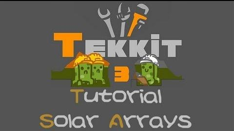 TEKKIT Tutorials Solar Array