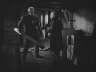 Carrington attempts to reason with the Thing - The Thing (1951)