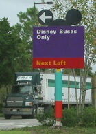 Mickey ears on sign