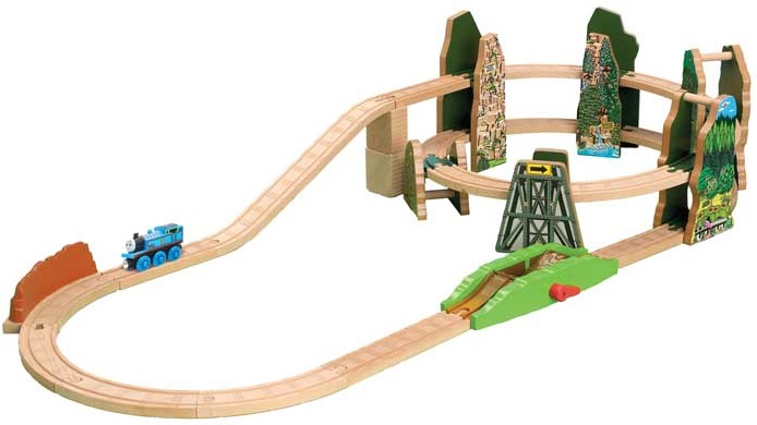 racing down the rails set thomas wooden railway wiki fandom powered by wikia. Black Bedroom Furniture Sets. Home Design Ideas