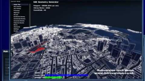 Procedurally generated city