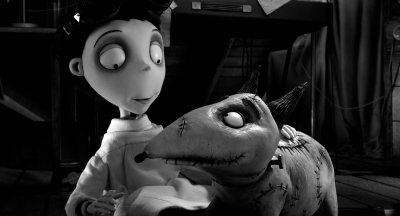 Victor and Sparky in Tim Burton Frankenweenie