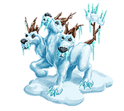 Decoration 3x3 snow dog tn@2x