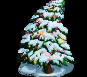Decoration 3x3 christmas tree snow tn@2x