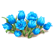 Decoration 1x1 flowergarden blue tn@2x