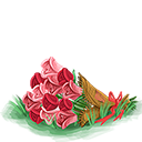 Decoration 1x1 valentine bouquet@2x