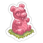 Sticker gummybear pink@2x