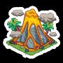 Sticker volcano@2x