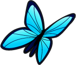 Blue butterfly single