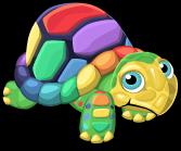 rainbow turtle stained glass type suncatcher window sticker ...