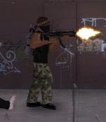 MP5 firing