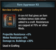 Tlsdz crafting kit - rare aggressor kit