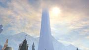 Azadi tower snow