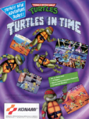 TMNT Turtles in Time Flyer Front Art