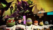 Lord Dregg Meets The Ninja Turtles Casey Jones And April O Neil