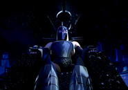 Shredder on throne