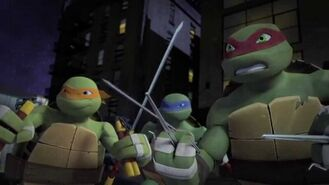 The Turtles fighting Ho Chan