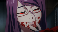 Rize enjoying Kaneki's taste