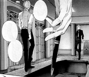 Arima and Sasaki-Kaneki on a table