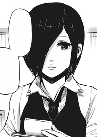 Touka's first appearance in manga