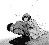 Urie stabs Mutsuki