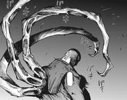Uta takes Shinohara's form and unleashes his kagune