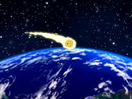 Invasion of the Body Slammers - Meteor landing on Earth
