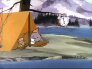 Tricky McTrout - Tom and Jerry sleeping on their tent
