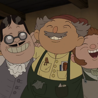 Left to right: The Caligrapher, Toymaker, and Cobbler.