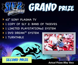 Sly 2 Sweepstakes Grand Prize