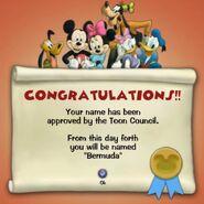 Toon certificate