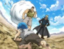 Ichiryuu and Mansam finding young Toriko