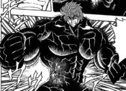 Toriko pushing out a Jongal Stag Beetle with force