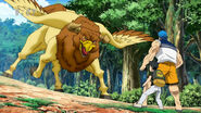 Toriko and Komatsu facing Ox Chicken