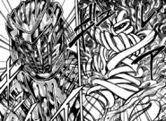 Toriko using Fork Armor