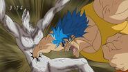 Toriko hitting Nitro with Speed of Sound Kugi Punch