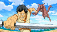 Yocchi fighting a beast3