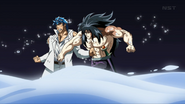 Toriko and Starjun punch themselves