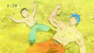 Toriko and Komatsu unconscious from the smell