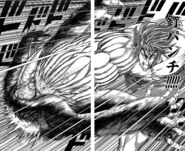 Toriko using 10 Ren Kugi Punch