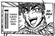 Toriko Calories level gourmet piramid